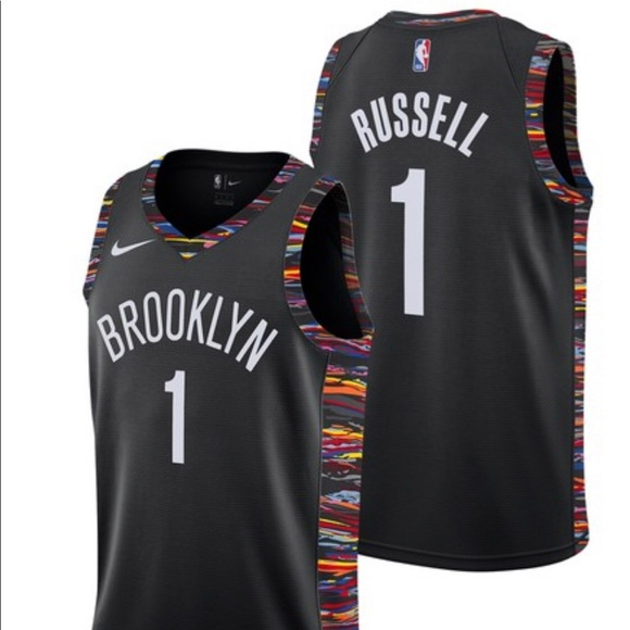 the latest cd6a0 a12cf Brooklyn Nets Rusell #1 NBA Jersey Fully Stitched NWT